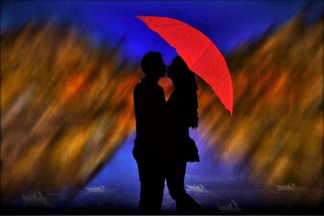 Mundo Hipatetico de Amanda - Beijo na chuva